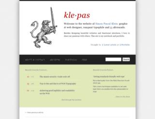 klepas.org screenshot