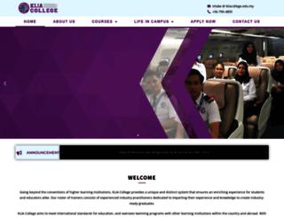 kliacollege.edu.my screenshot