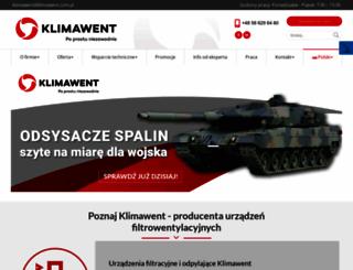 klimawent.com.pl screenshot