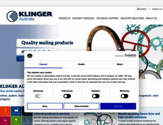 klinger.com.au screenshot