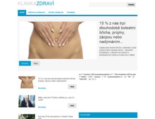 klinikazdravi.cz screenshot