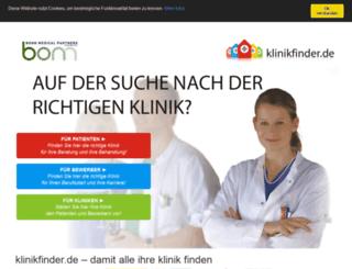 klinikfinder.de screenshot