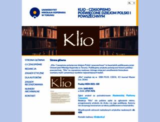 klio.umk.pl screenshot