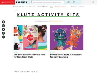 klutz.com screenshot