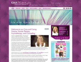 kmatherapy.com screenshot