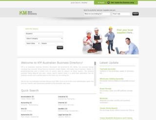 kmdirectory.com.au screenshot