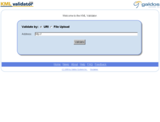 kmlvalidator.com screenshot