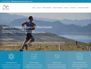kneesurgerymanchester.co.uk screenshot