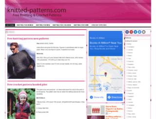 knitted-patterns.com screenshot