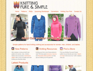 knittingpureandsimple.com screenshot