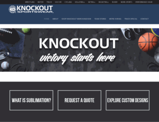 knockoutsportswear.com screenshot