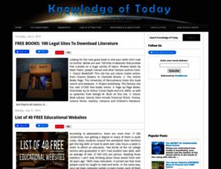 knowledgeoftoday.org screenshot