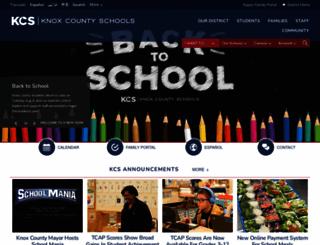 knoxschools.org screenshot