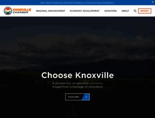 knoxvillechamber.com screenshot