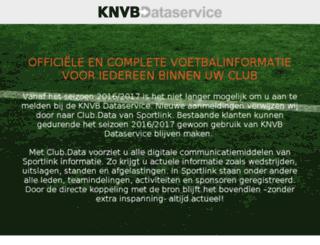 knvbdataservice.nl screenshot
