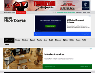 kocaelihaberdunyasi.com screenshot