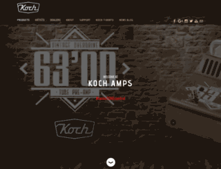 koch-amps.com screenshot