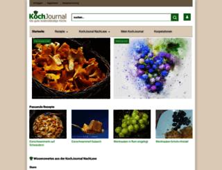 kochjournal.at screenshot