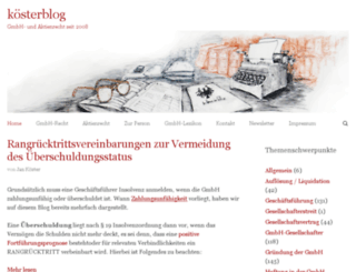 koesterblog.com screenshot