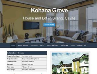 kohanagrovesilanghomes.com screenshot
