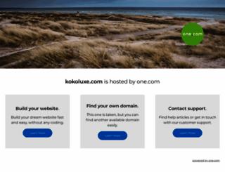 kokoluxe.com screenshot