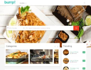 kolkata.burrp.com screenshot
