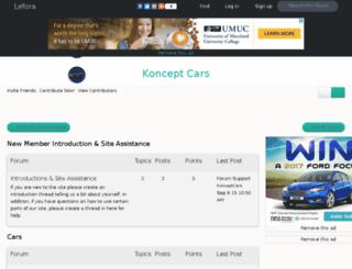 konceptcars.lefora.com screenshot