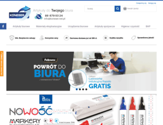 koneser.net.pl screenshot