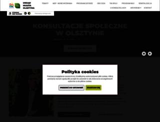 konsultacje.olsztyn.eu screenshot