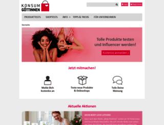 konsumgoettinnen.de screenshot