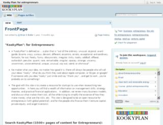 kookyplan.pbwiki.com screenshot