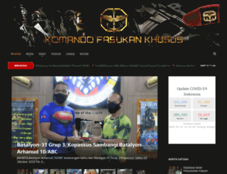 kopassus.mil.id screenshot