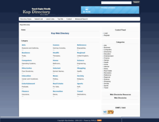 kopdirectory.com screenshot