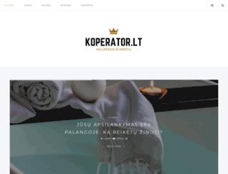 koperator.lt screenshot