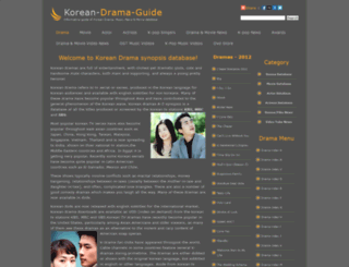 korean-drama-guide.com screenshot