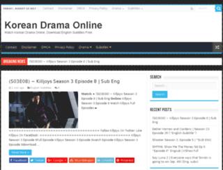 koreandrama-online.stream screenshot
