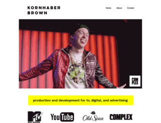 kornhaberbrown.com screenshot