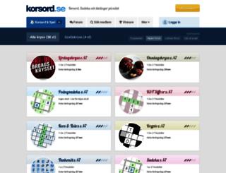 korsord.se screenshot