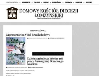 koscioldomowy.lomza.pl screenshot