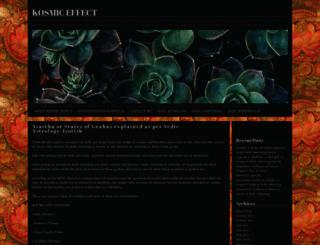 kosmiceffect.wordpress.com screenshot