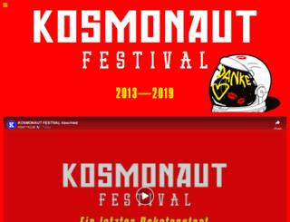 kosmonaut-festival.de screenshot