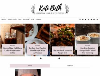 kotibeth.com screenshot