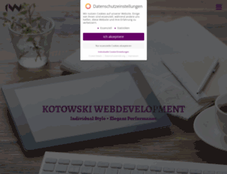 kotowski-webdesign.com screenshot