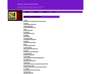 kouraku.menutoeat.com screenshot