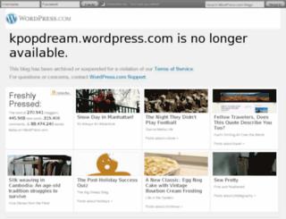 kpopdream.wordpress.com screenshot