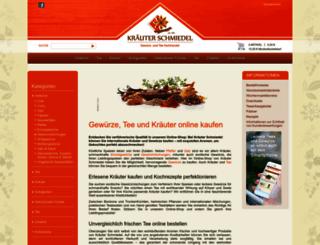 kraeuter-schmiedel.de screenshot