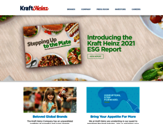 kraftheinzcompany.com screenshot