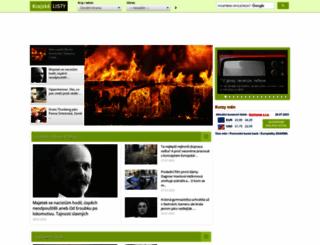 krajskelisty.cz screenshot