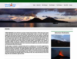 krakatauecotourism.com screenshot