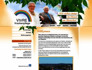 krankenpflege-vivre.de screenshot